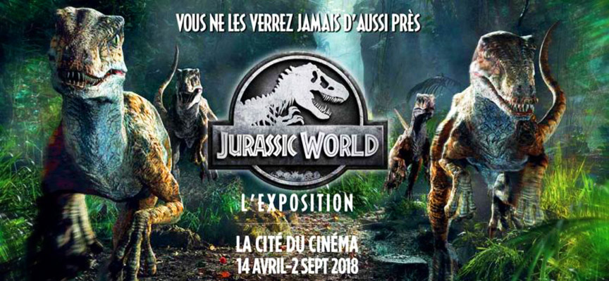 exposition-jurassic world-cite cinema-darkside-events